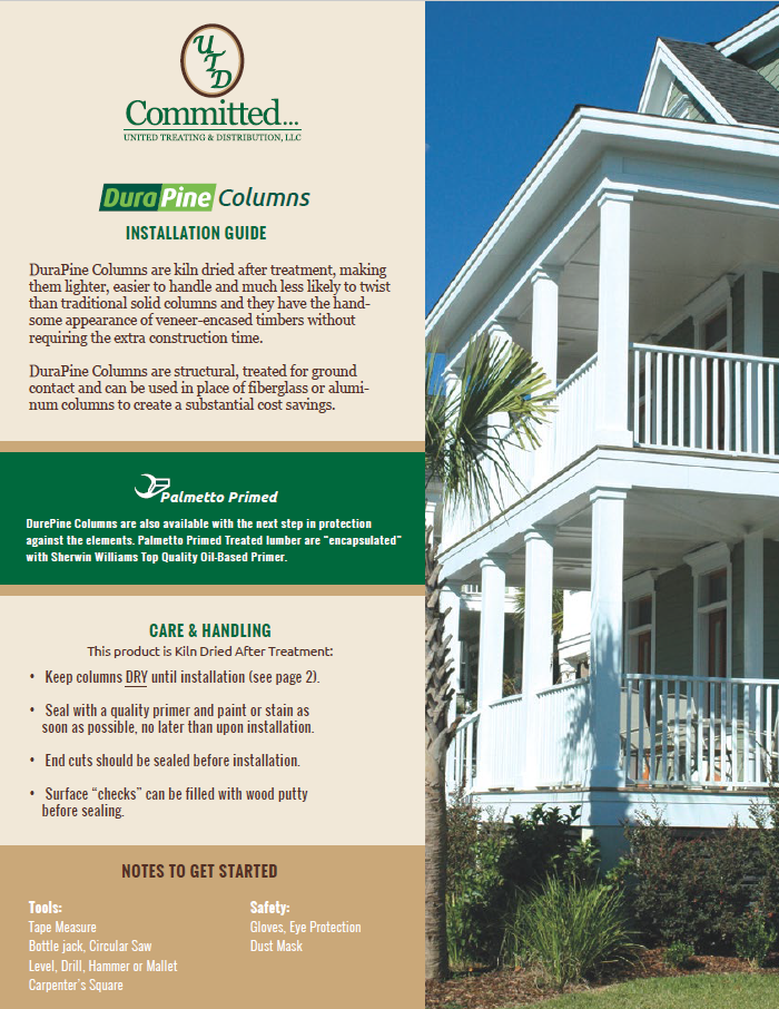 DuraPine Column Installation Guide