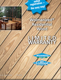 Wolmanized Outdoor Wood Warranty