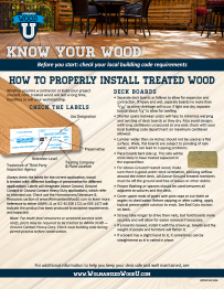 How to properly install treated wood